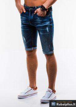 Vyriski plėšyti džinsiniai šortai vyrams internetu pigiau W167TM kairė