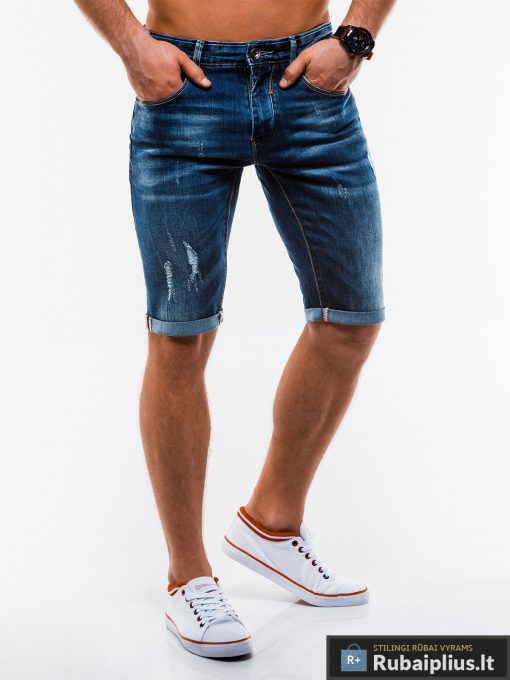 Vyriski plėšyti džinsiniai šortai vyrams internetu pigiau W167TM dešinė