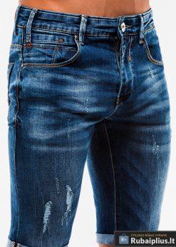 Vyriski plėšyti džinsiniai šortai vyrams internetu pigiau W167TM kišenė