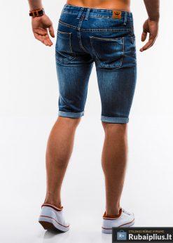 Vyriski plėšyti džinsiniai šortai vyrams internetu pigiau W167TM nugara