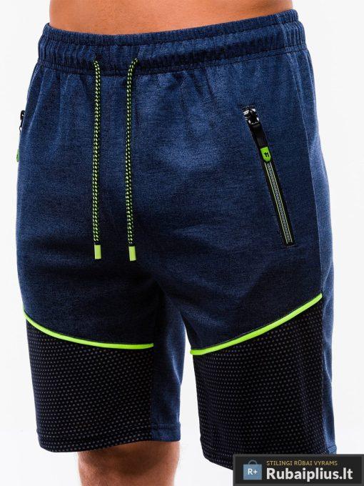 Vyriski tamsiai mėlyni šortai vyrams internetu pigiau W201TM kišenė