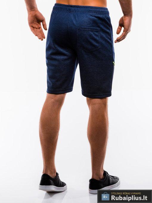Vyriski tamsiai mėlyni šortai vyrams internetu pigiau W201TM nugara
