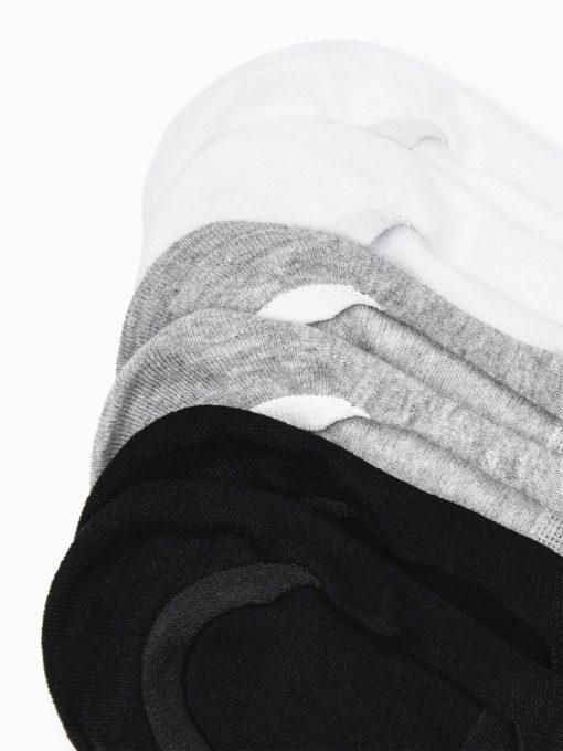 Vyriskos vienspalves trumpos nematomos kojines vyrams 3 vnt. pakuotė, spalva pilka,juoda, balta