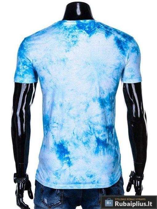Vyriski mėlyni marškinėliai vyrams su užrašais inetrnetu pigiau S1104M nugara