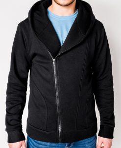 Juodas vyriškas džemperis su gobtuvu internetu pigiau PRIMO 1012-1