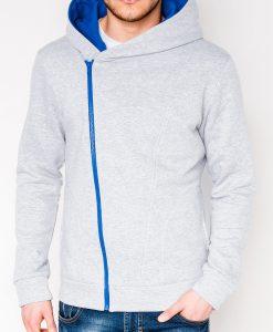 Pilkas vyriškas džemperis su gobtuvu internetu pigiau PRIMO 1016-1