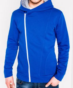 Mėlynas vyriškas džemperis su gobtuvu internetu pigiau PRIMO 1017-1