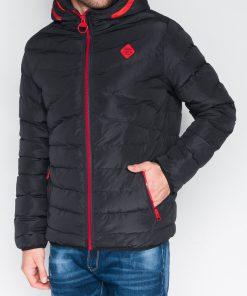 Rudeninė vyriška juodos spalvos striukė internetu pigiau Max C363 10345-1