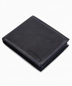 Ruda odinė vyriška piniginė internetu pigiau A092 10482-2