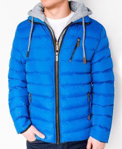 Mėlyna žieminė vyriška striukė internetu pigiau C384 10567-1