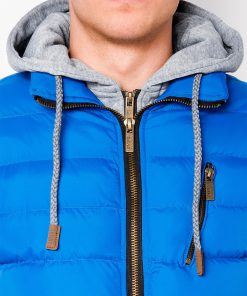 Mėlyna žieminė striukė vyrams internetu pigiau C384 10567-3