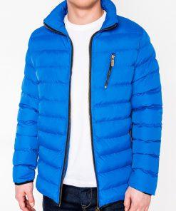Mėlyna vyriška žieminė striukė internetu pigiau C384 10567-4