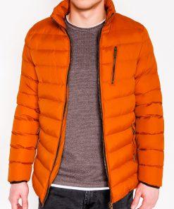 Oranžinė vyriška žieminė striukė internetu pigiau C384 10568-3