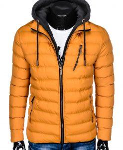 Geltona rudeninė-pavasarinė vyriška striukė internetu pigiau Uffo C384 10571-1