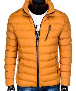 Geltona žieminė vyriška striukė internetu pigiau Uffo C384 10571-7