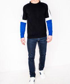 Juodas džemperis vyrams internetu pigiau B872 10580-2