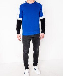 Mėlynas džemperis vyrams internetu pigiau B872 10583-2
