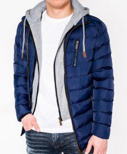 Tamsiai mėlyna rudeninė vyriška striukė internetu pigiau C38411017-1