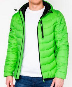 Šviesiai žalia rudeninė-pavasarinė vyriška striukė internetu pigiau Sorto C371 11204-1