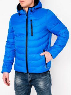 Mėlyna rudeninė-pavasarinė vyriška striukė internetu pigiau Sorto C371 11208-3
