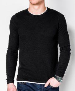 Juodas vyriškas megztinis internetu pigiau E121 11558-1