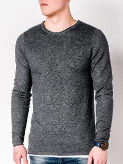 Tamsiai pilkas-melanžinis vyriškas megztinis internetu pigiau Dreg E121 11560-1