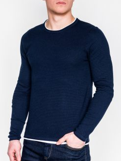 Tamsiai mėlynas vyriškas megztinis internetu pigiau E121 11561-1
