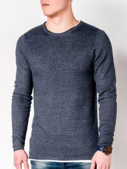 Tamsiai mėlynas-melanžinis vyriškas megztinis internetu pigiau Dreg E121 11562-1