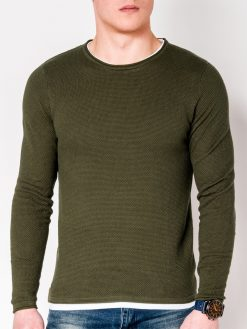 Chaki vyriškas megztinis internetu pigiau E121 11563-1