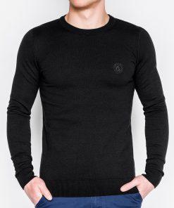 Juodas vyriškas megztinis internetu pigiau Kwist E122 11565