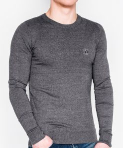 Tamsiai pilkas vyriškas megztinis internetu pigiau Kwist E122 11567
