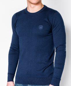 Tamsiai mėlynas vyriškas megztinis internetu pigiau Kwist E122 11568