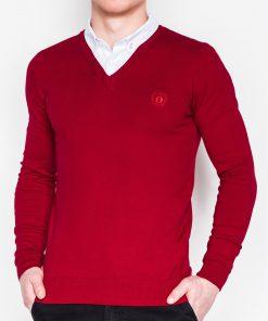 Raudonas vyriškas megztinis internetu pigiau E120 11579-1