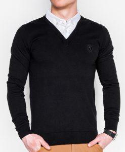 Juodas vyriškas megztinis internetu pigiau E120 11580-1