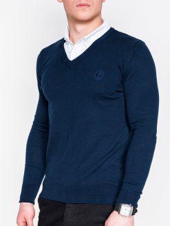 Tamsiai mėlynas vyriškas megztinis internetu pigiau E120 11581-1