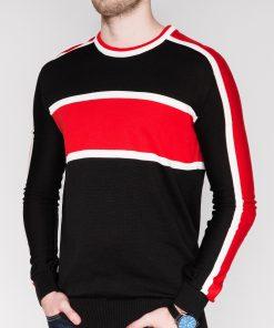 Juodas vyriškas megztinis internetu pigiau E145 11638-1