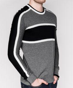 Tamsiai pilkas vyriškas megztinis internetu pigiau E145 11639-1