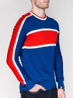 Mėlynas vyriškas megztinis internetu pigiau E145 11641-1