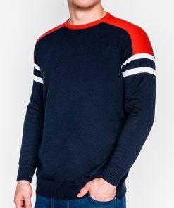 Tamsiai mėlynas vyriškas megztinis internetu pigiau E146 11646-1