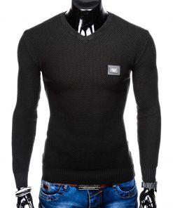 Juodas vyriškas megztinis internetu pigiau E147 11648-3