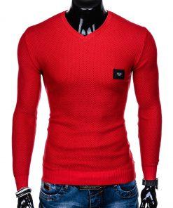 Raudonas vyriškas megztinis internetu pigiau E147 11649-2