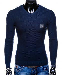Tamsiai mėlynas vyriškas megztinis internetu pigiau E14711650-1