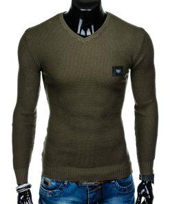 Chaki vyriškas megztinis internetu pigiau Vors E147 11651-4