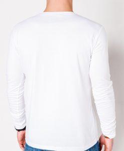 Balti marskineliai vyrams ilgomis rankovemis internetu pigiau Hit L112 11995-2