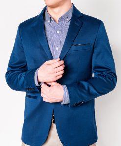 Mėlynas vyriškas švarkas interentu pigiau M96 12128-2