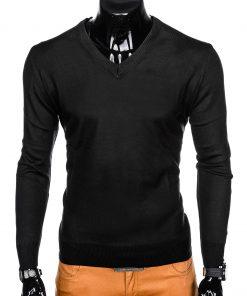 Klasikinis juodas vyriškas megztinis internetu pigiau E151 12136