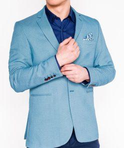 Šviesiai mėlynas vyriškas švarkas internetu pigiau M102 12176-2