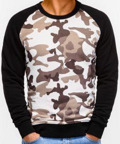 Smėlio kamufliažinis džemperis vyrams internetu pigiau B920 12204-2