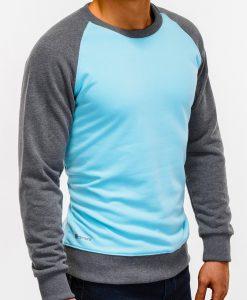 Šviesiai mėlynas džemperis vyrams internetu pigiau B920 12205-3