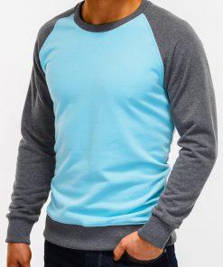Šviesiai mėlynas vyriškas džemperis internetu pigiau B920 12205-5